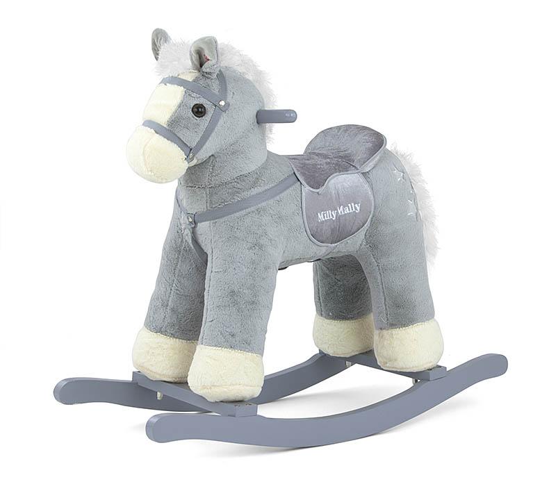 Koń na biegunach szary Pepe konik