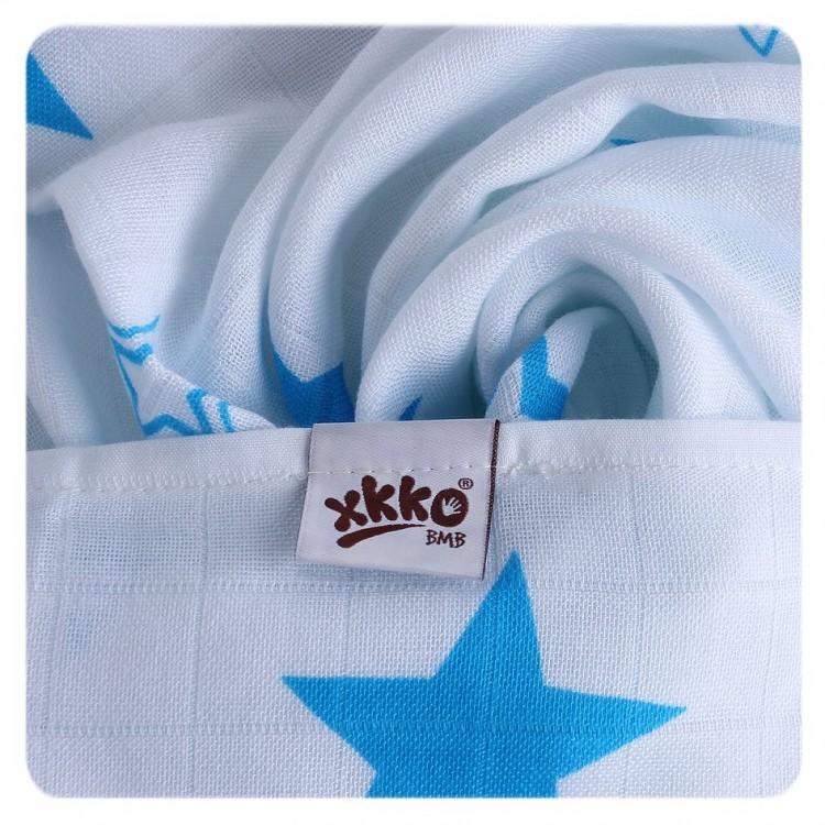 Pieluszki bambusowe XKKO 70x70 cm - 3szt Stars Niebieski