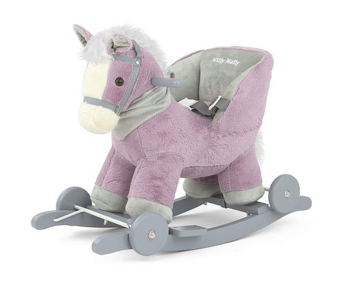 Koń dna biegunach z oparciem + kółka Polly Milly Mally