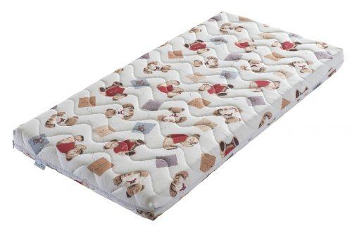 Materac dla dziecka lateksowo kokosowy do łóżeczka 160x80 Minako Tecomat pokrowiec Tedy Bear