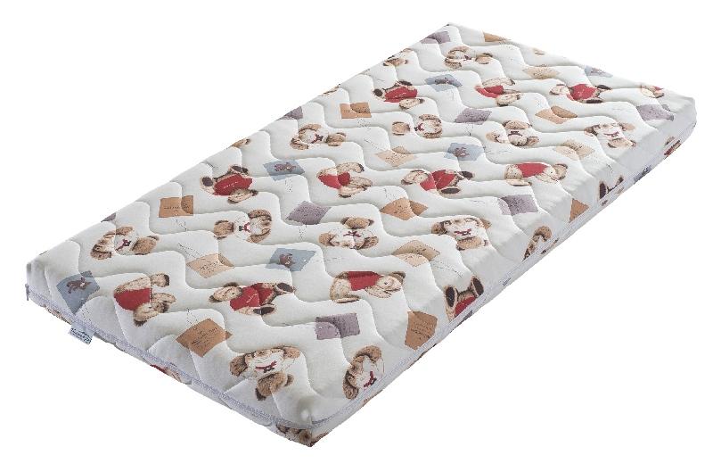 Materac młodzieżowy lateksowo kokosowy do łóżeczka 90x190 Minako Tecomat pokrowiec Tedy Bear