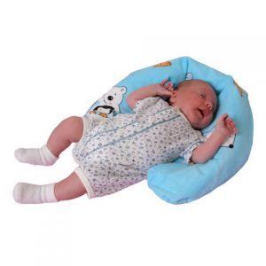 Gniazdo niemowlęce małe 11x75 cm niebieskie Find Me Ty i My