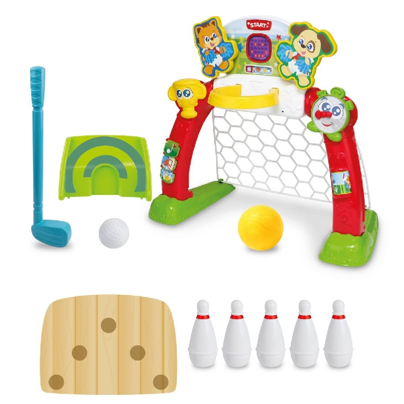 Centrum sportu golf, kręgle piłka nożna bramka 4w1 Smile Play