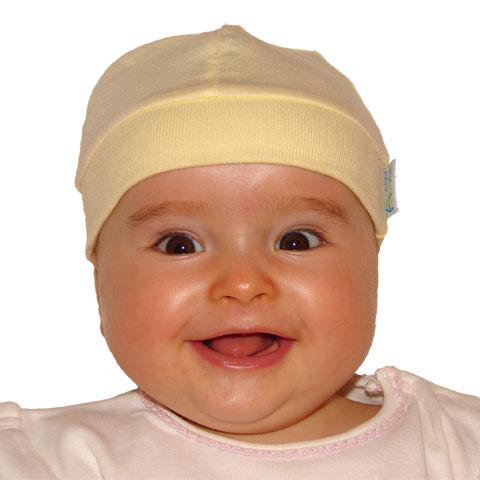 Czapeczka dla niemowląt Smerfetka Ty i My kolor Ecru