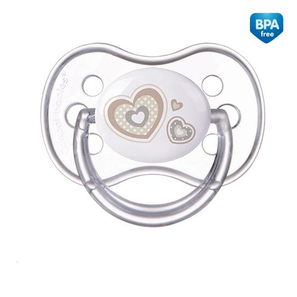 Smoczek uspokajający NewBorn Canpol Babies silikonowy okrągły 0-6m kolor Beżowy