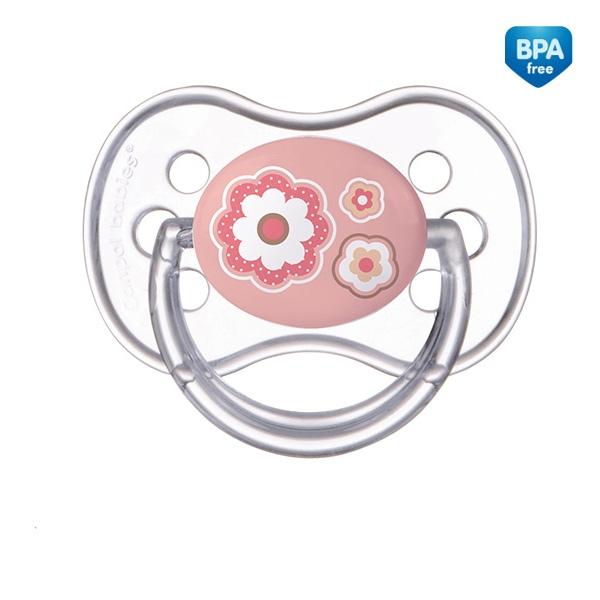 Smoczek uspokajający NewBorn Canpol Babies silikonowy okrągły 6-18m kolor Różowy