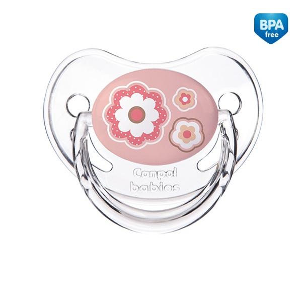 Smoczek uspokajający anatomiczny silikonowy 6-18 m New Born Canpol Babies kolor Różowy