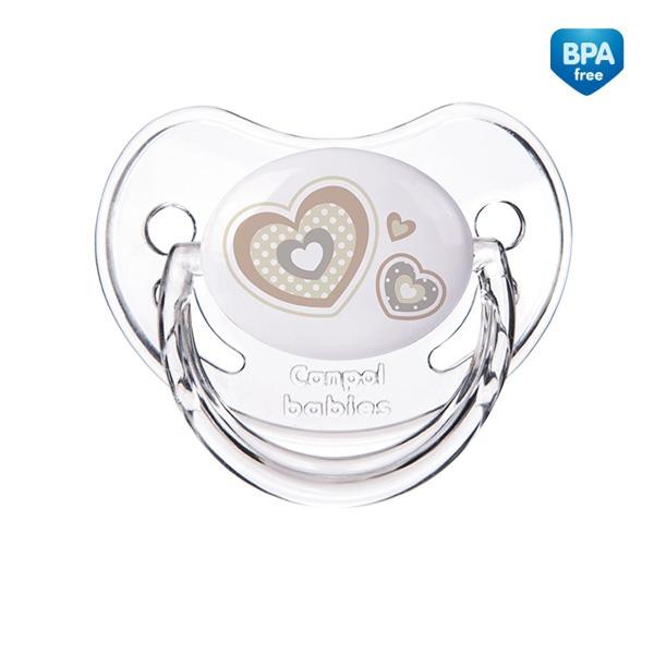 Smoczek uspokajający anatomiczny silikonowy 18m+ New Born Canpol Babies kolor Beżowy