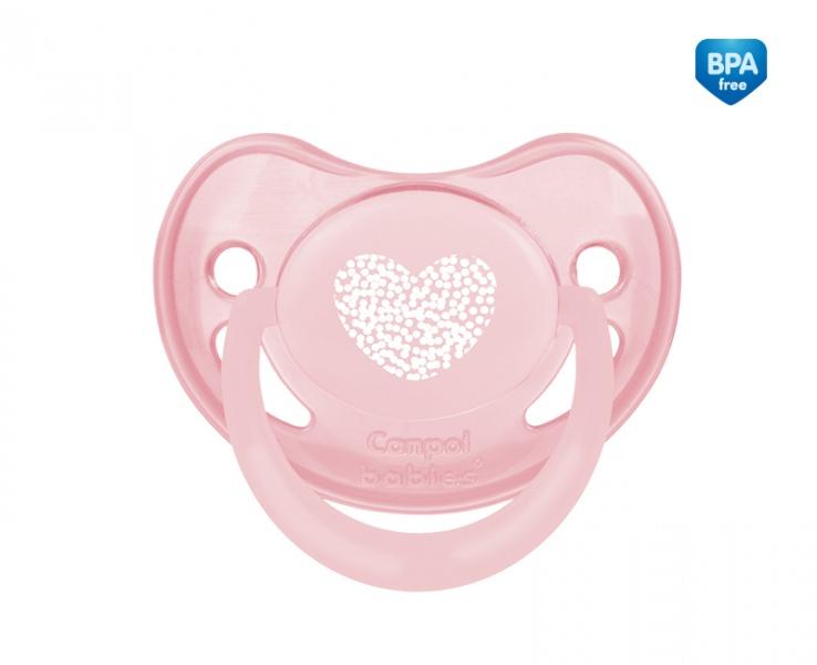 Smoczek uspokajający anatomiczny silikonowy 18m+ Pastelove Canpol Babies kolor Różowy