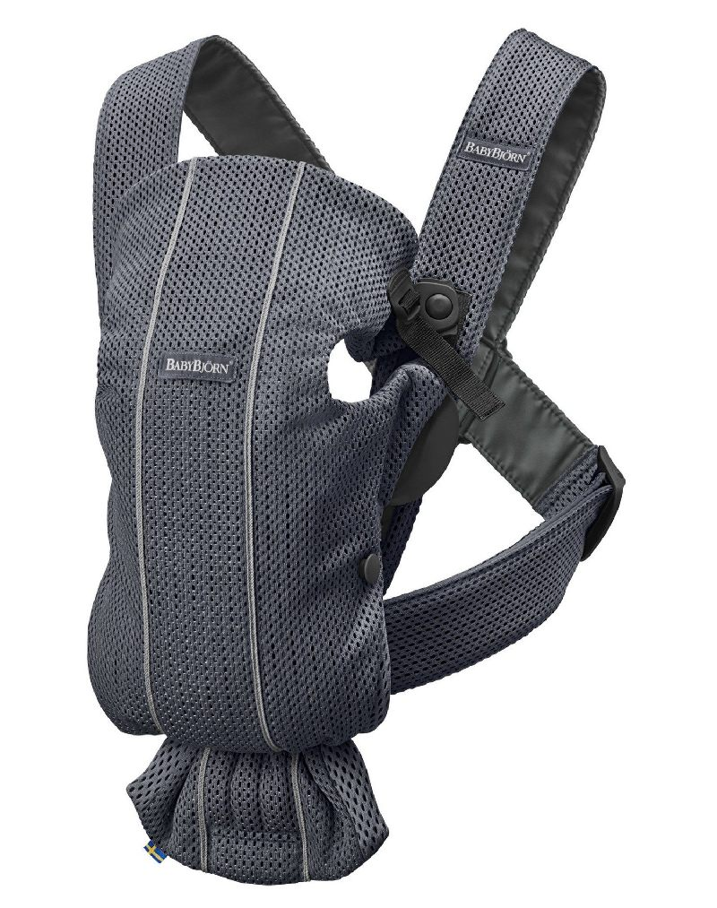 Nosidełko dla niemowląt 0-11 kg Babybjorn Mini 3d mesh Antracyt