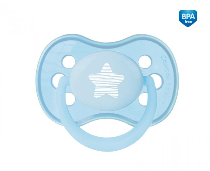 Smoczek uspokajający symetryczny silikonowy 18m+ Pastelove Canpol Babies kolor Niebieski