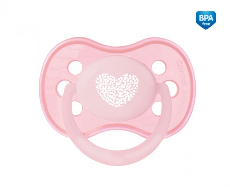 Smoczek uspokajający symetryczny silikonowy 18m+ Pastelove Canpol Babies kolor Różowy