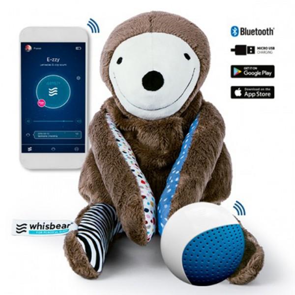 Whisbear leniwiec E-zzy zabawka 3 w1, monitor snu, szumiąza zabawka, asystent rodzica