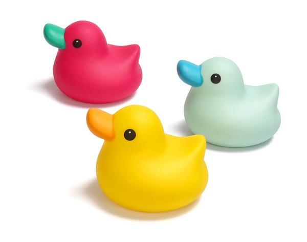 Miękka kaczka do zabawy w kąpieli zabawka do wanny Kidsme zielona