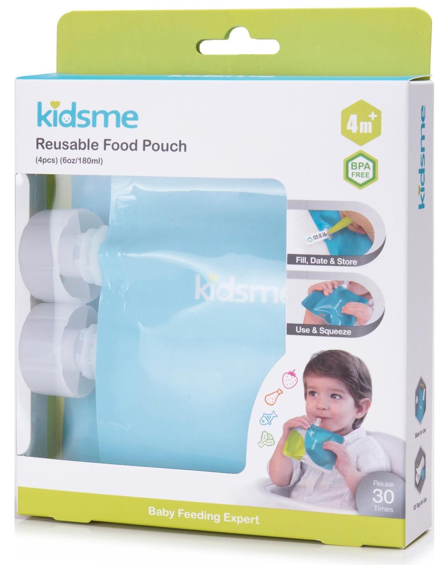 Kidsme saszetki do żywności wielokrotnego użytku  4 szt Kidsme