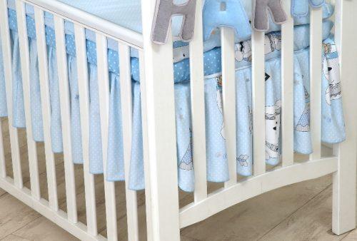 Amy falbana  do łóżeczka 120 indi niebieski