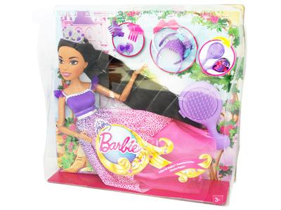 Barbie Lalka długowłosa 43 cm DRJ31 DPK21 Fioletowy
