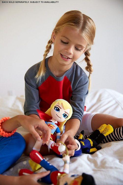 Barbiei superbohaterki - miniprzytulanki DWH55 lalka przytulanka DWH57