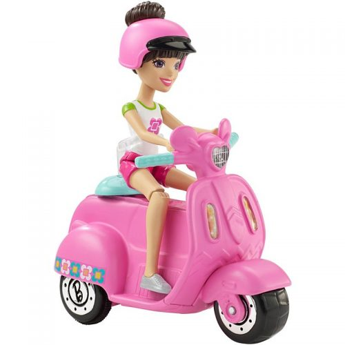 Barbie On the Go - pojazd i lalka w zestawie FHV80 motor