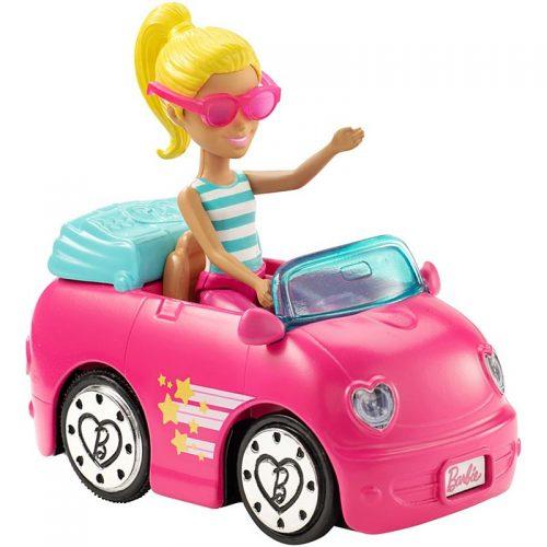 Barbie On the Go - pojazd i lalka w zestawie FHV77 samochód