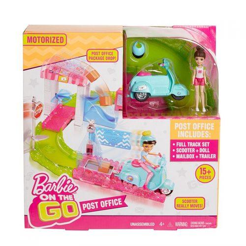"""Barbie On The Go - zestaw """"Poczta"""" z lalką listonoszką motor FHV85"""