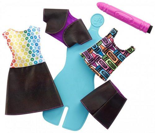 Barbie Zrób To Sama - akwarelowe wzory stroje sukienki dla lalek FHW87 kreatywna zabawa