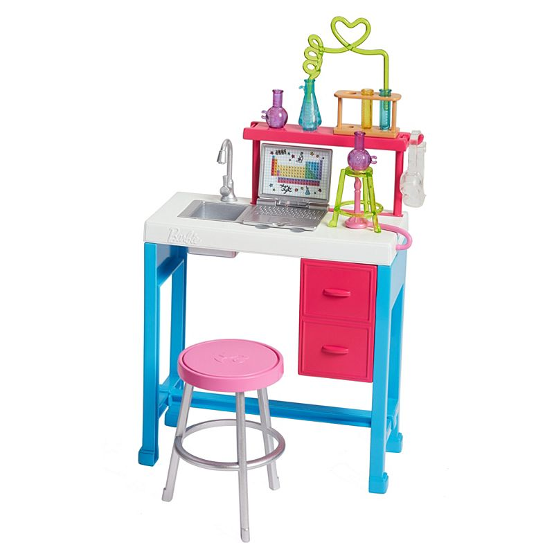 Barbie - zestaw mebelków z serii Kariera FJB28 stół chemika