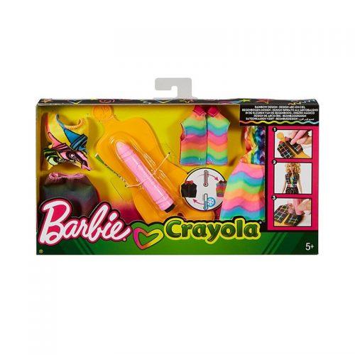 Barbie Zrób To Sama - akwarelowe wzory stroje sukienki dla lalek FHW86 kreatywna zabawa