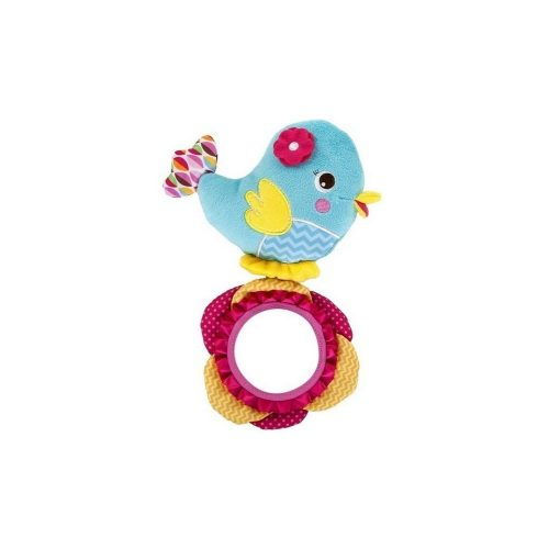 Rajski Ptaszek Bright Starts - pluszowa grzechotka zabawka z lusterkiem 0m+ BS52030