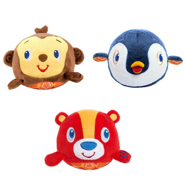 Muzyczne zabawne zwierzątka pluszowe Bright Starts 3m+ Małpka BS52098