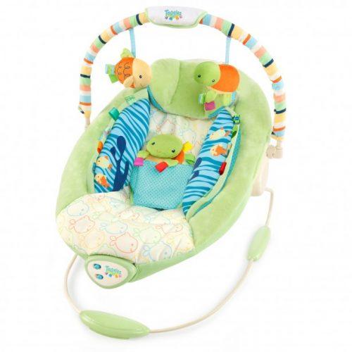 Leżaczek z wibracjami dla niemowląt Rybka Taggies Grający BS6024 Bright Starts