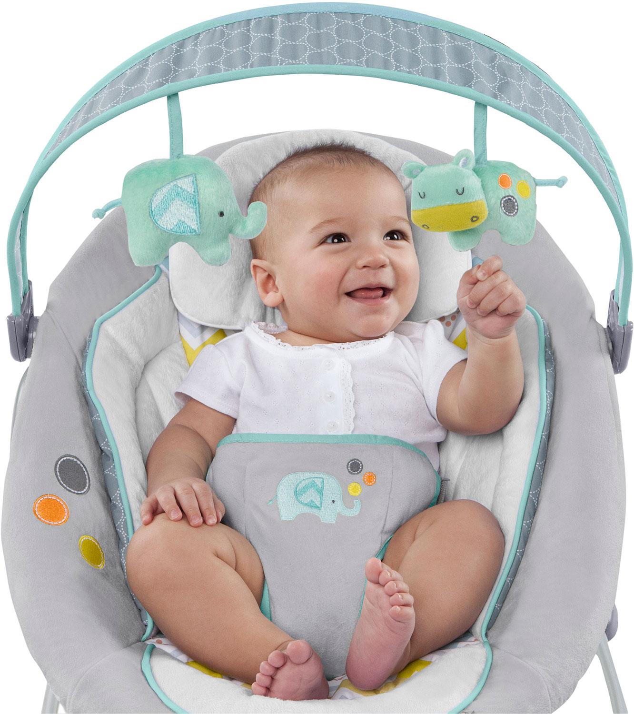 Ingenuity leżcaczek dla niemowląt huśtawka hybrydowa Słonik  BS60393 Bright Stars