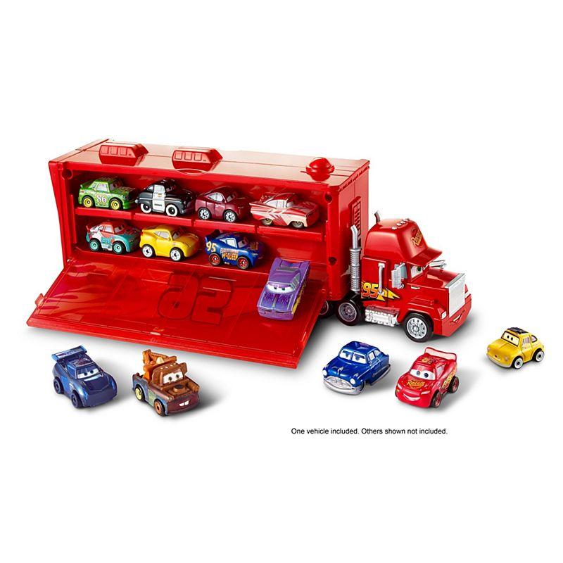 Cars micro autka 12szt + transporter tir z pojemnikiem na samochodziki FLG70