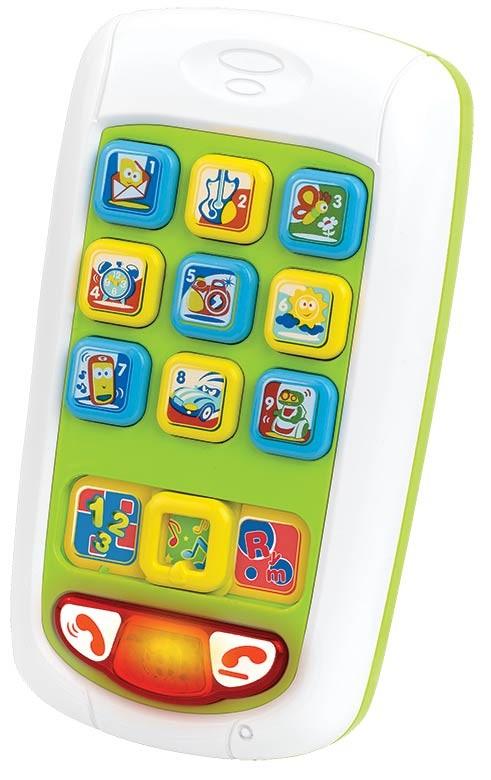 Rymujący smartfonik Dumel gadający telefon muzyczna zabawka DD42037 12m+