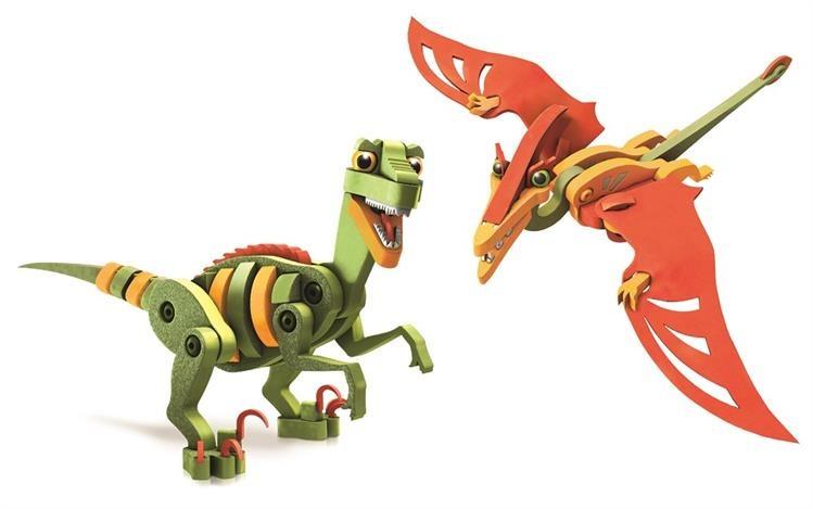 Dumel piankowe puzle 3D do układania dinozaur Veleciraptor i Pterosaur DD20001
