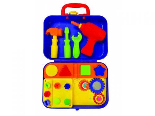 Mały majsterkowicz Dumel - interaktywny zestaw narzędzi z walizką - komplet zabawek dla dzieci 12m+ DD27722