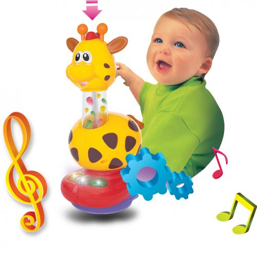 Dumel Muzyczna żyrafka z mini pianinkiem 6m+ grająca zabawka DD29900