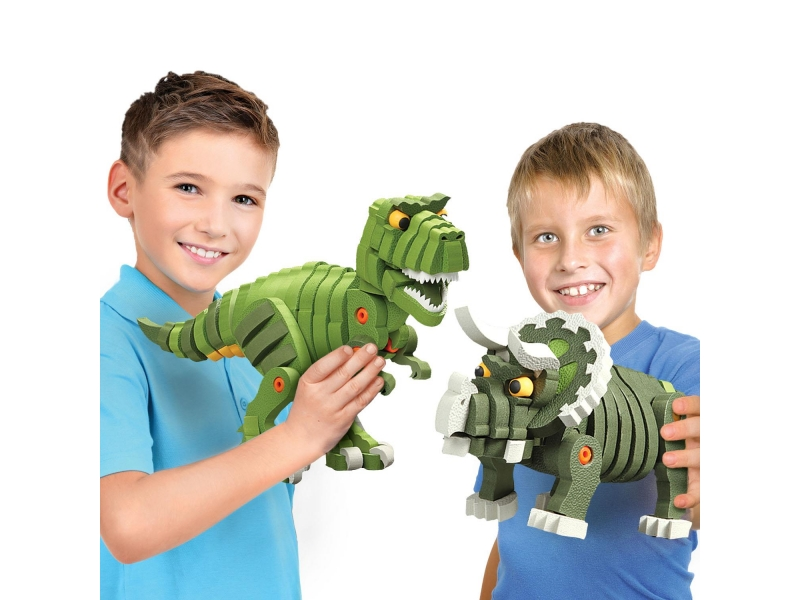 Przestrzenne puzle 3d dinozaury T-rex i Triceratops Dumel DD35002
