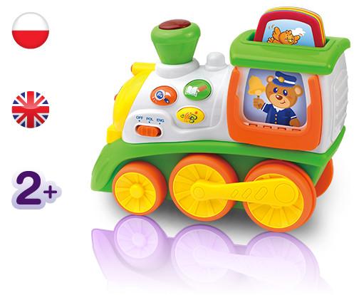 Mój pierwszy Edukacyjny Pociąg ze zwierzętami Dumel Discovery - zabawka dwujęzyczna DD42317