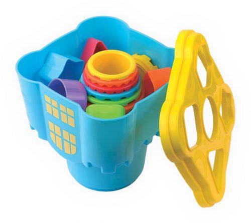 Dumel Discovery - Kubeczkowy Zamek - układanka edukacyjna dla dzieci 12m+ DD42500
