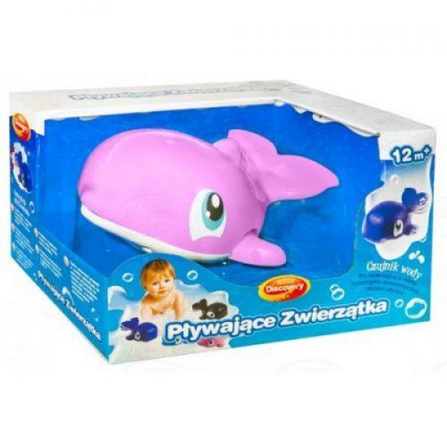 Zabawka do kąpieli pływające zwierzątka do wanny Dumel 12m+ DD431 Różowy