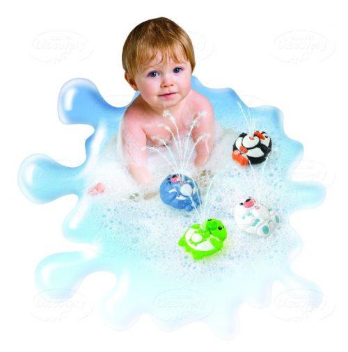 Tryskające zwierzątka do kąpieli Dumel DD4305 zabawki kąpielowe dla dzieci 12m+ Miś polarny
