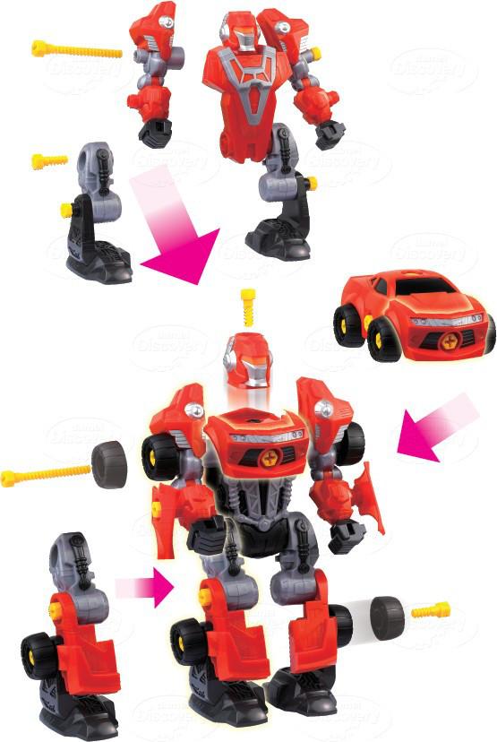 Rozkręcany robot Dumel Discovery DD43507  zabawka kreatywna od 3 lat Czerwony