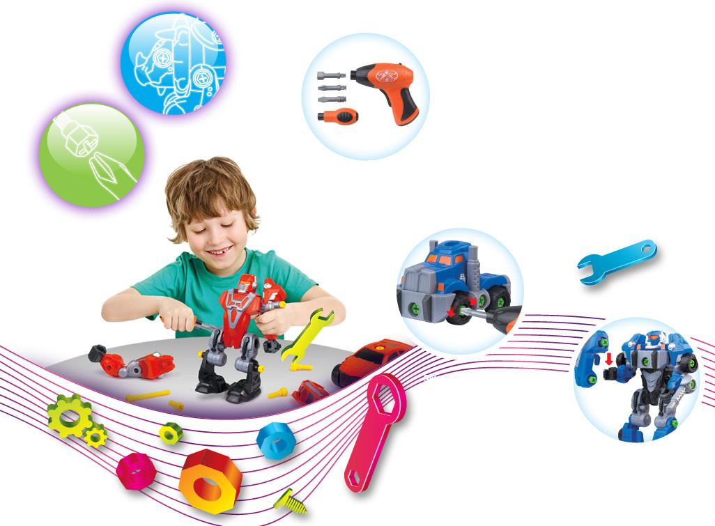 Rozkręcany robot Dumel Discovery DD43507 zabawka kreatywna od 3 lat Niebieski