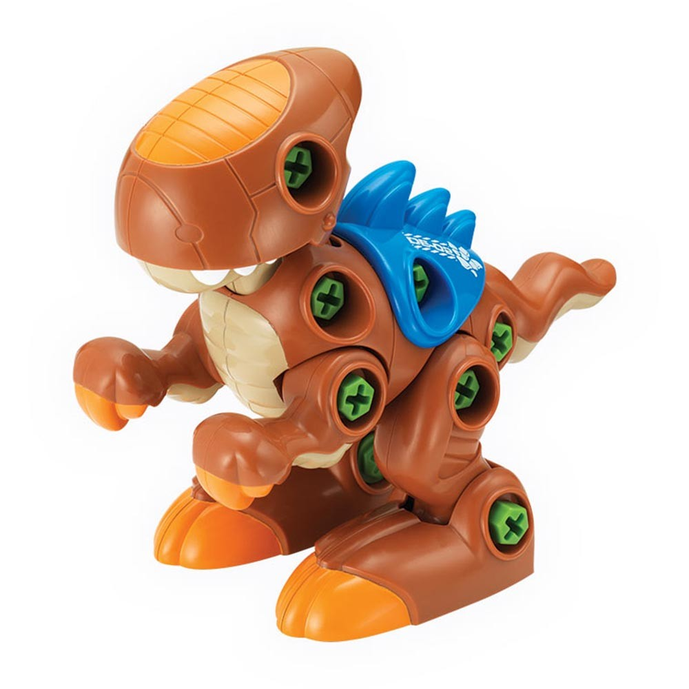 Rozkręcony dino Dumel DD43527 kreatywne zabawki z narzędziami - dla dzieci od 3 lat Brązowy + wkrętarka