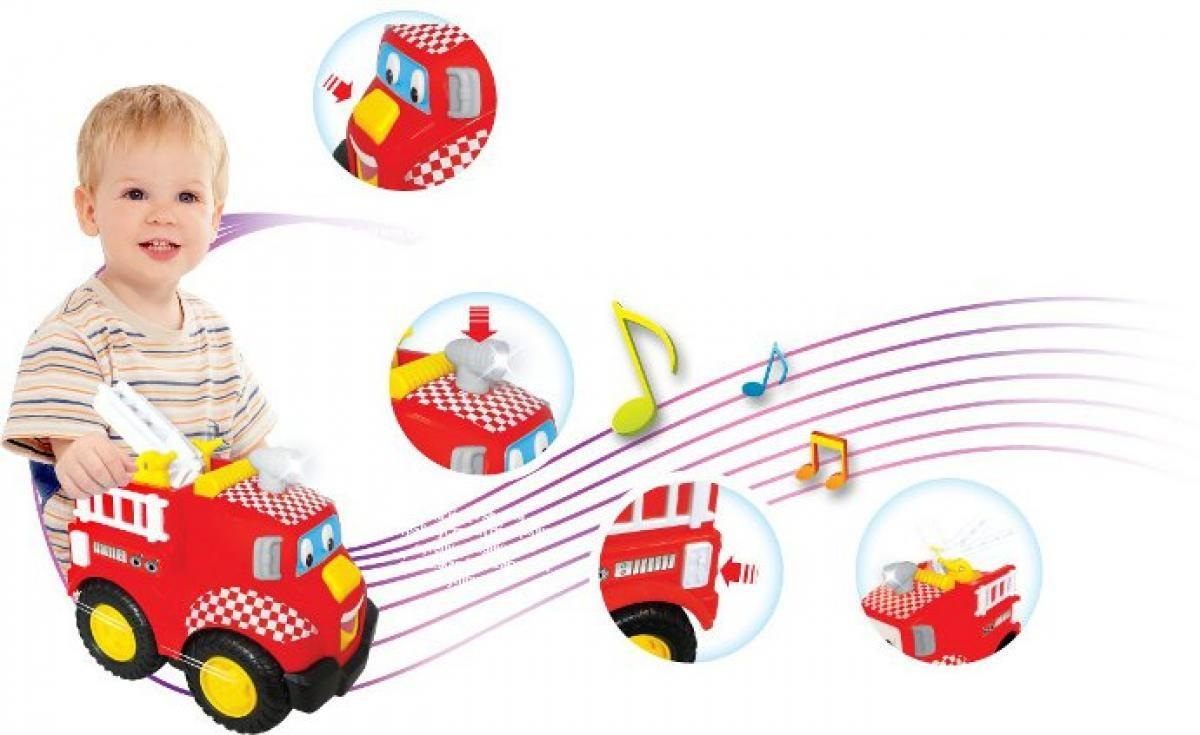 Wóz strażacki Dumel Discovery DD49338 samochodzik z melodyjkami i rymowankami 18m+