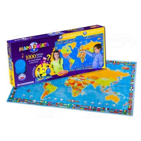Interaktywna Mapa Świata Dumel Discovery DD60853 1000 faktów i pytań na temat państw świata - PL/ENG