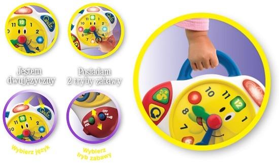 Zegar Tik Tak Dumel DD8987 wesoły dwujęzyczny angielski polski zegar dla dzieci od 2 lat
