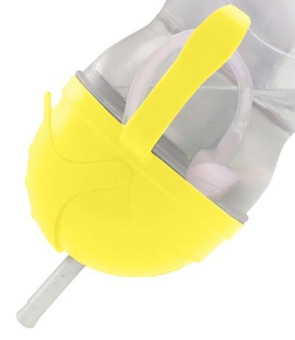 Bidon ze słomką  kubek niekapek Neon B.box żółty 240ml