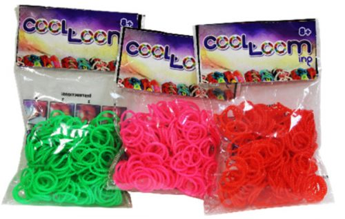 Gumki do plecenia bransoletek 100 szt jednokolorowe Bubbles fiolet